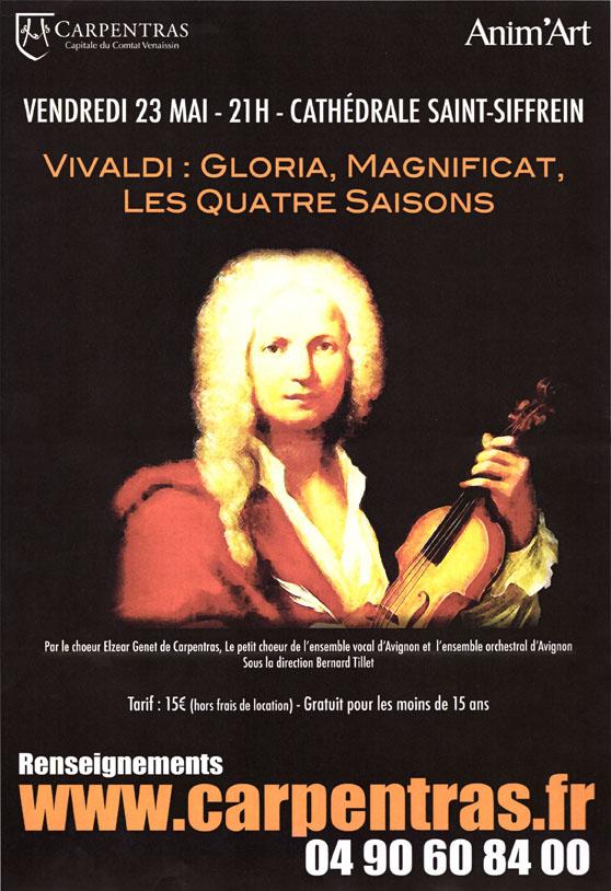 Choeur Elzéar Genêt Carpentras Concert Vivaldi 23 mai 2014