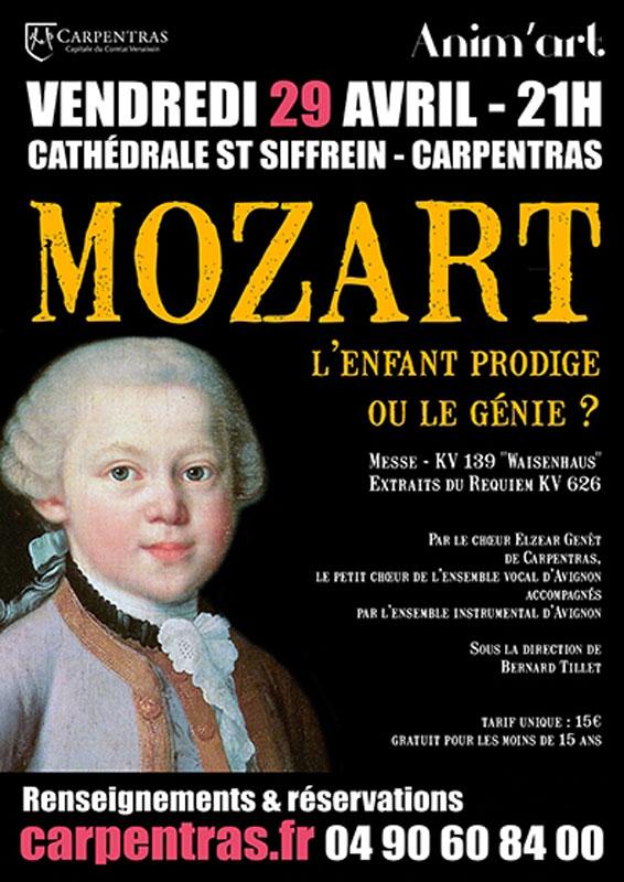 Choeur Elzéar Genêt Carpentras Concert Mozart 29 Avril 2016