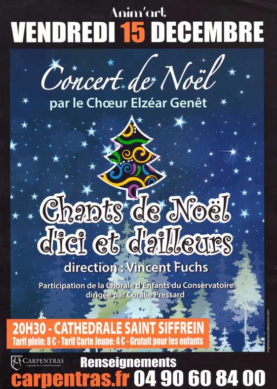 Choeur Elzéar Genêt Carpentras Concert de Noël 2017