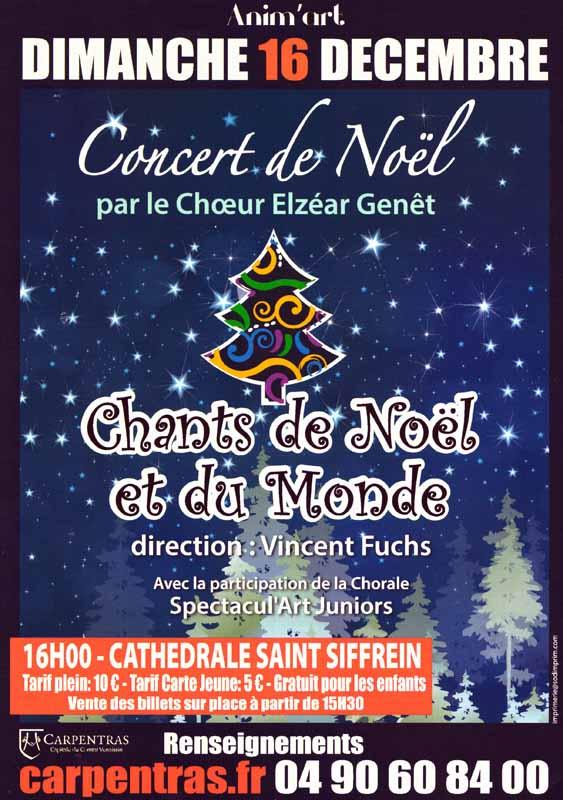 Choeur Elzéar Genêt Carpentras Concert de Noël 2018