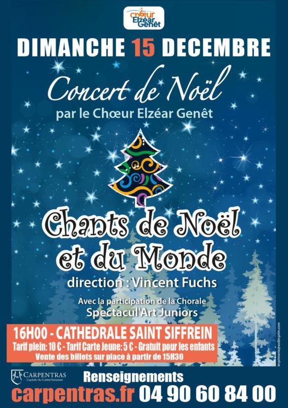 Choeur Elzéar Genêt Carpentras Concert de Noël 15 décembre 2019 Cathédrale Saint Siffrein